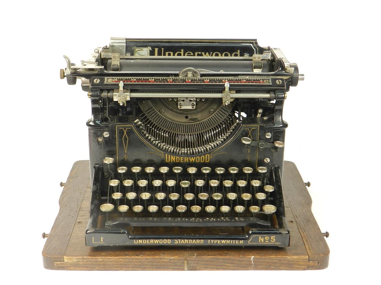 Imagen UNDERWOOD  Nº5  AÑO 1918 30918