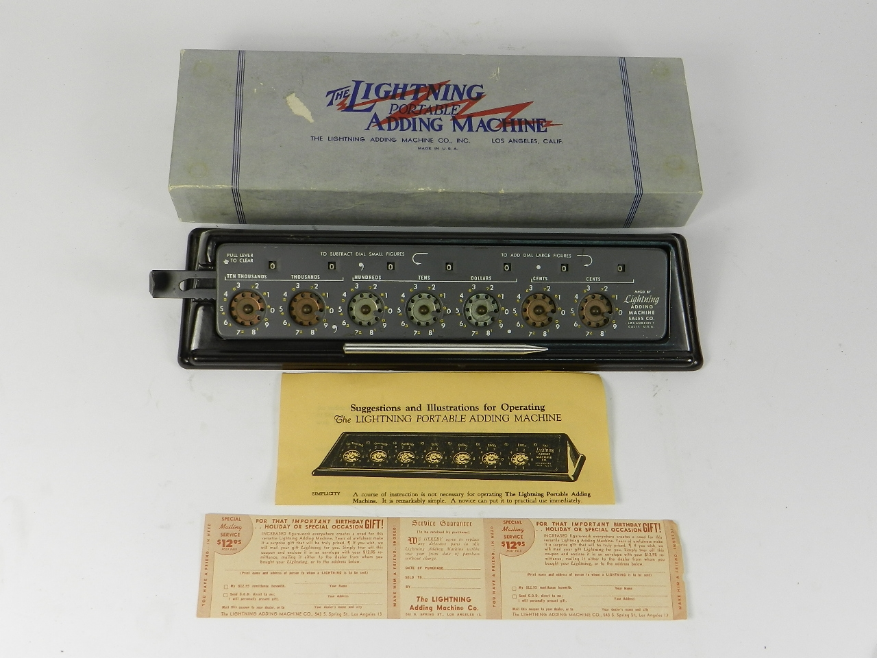 Imagen THE LIGHTNING ADDING MACHINE 31454