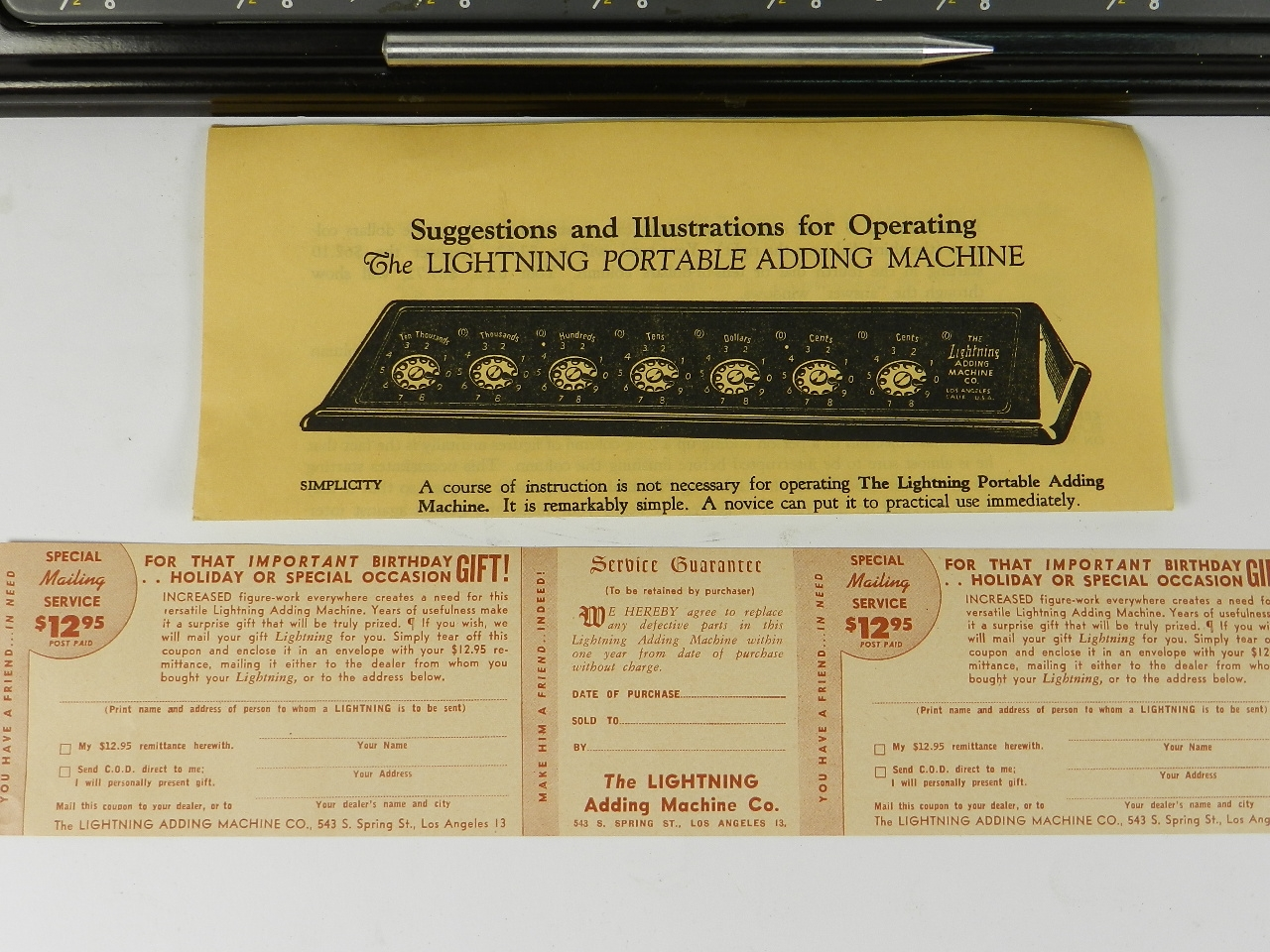 Imagen THE LIGHTNING ADDING MACHINE 31455