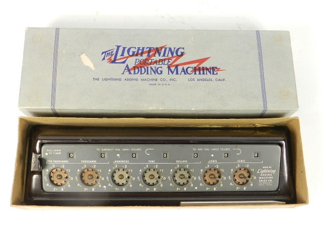 THE LIGHTNING ADDING MACHINE