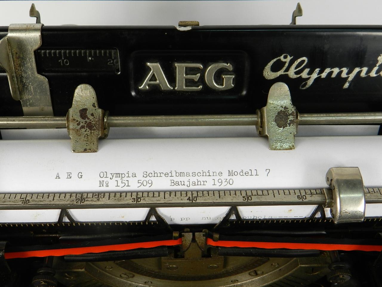 Imagen AEG OLYMPIA Nº7 AÑO 1930 31547