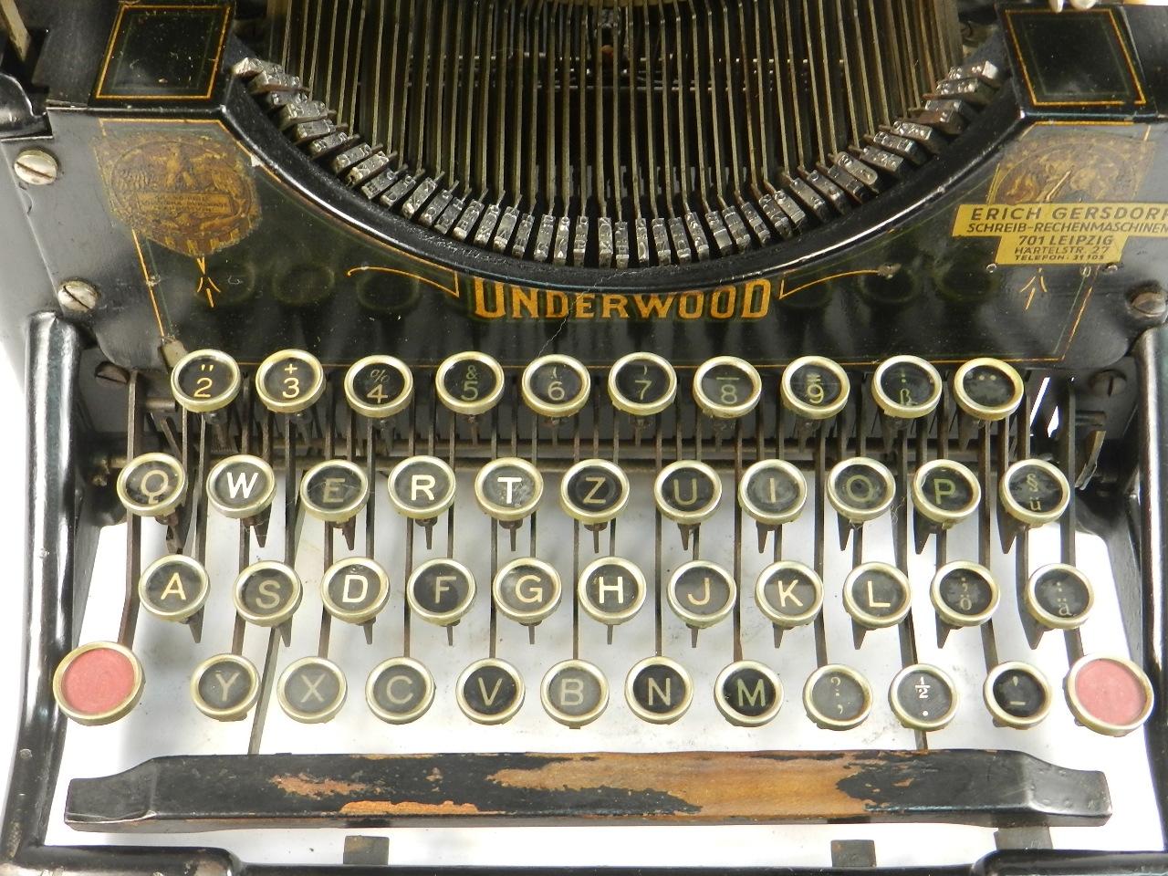 Imagen RARA  UNDERWOOD Nº2  AÑO 1905 32841