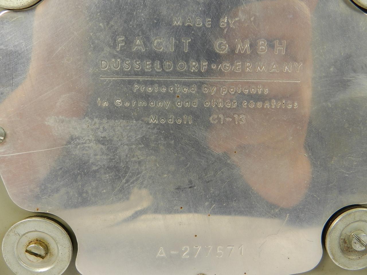 Imagen FACIT  MODELO II C1-13 AÑO 1950 33608