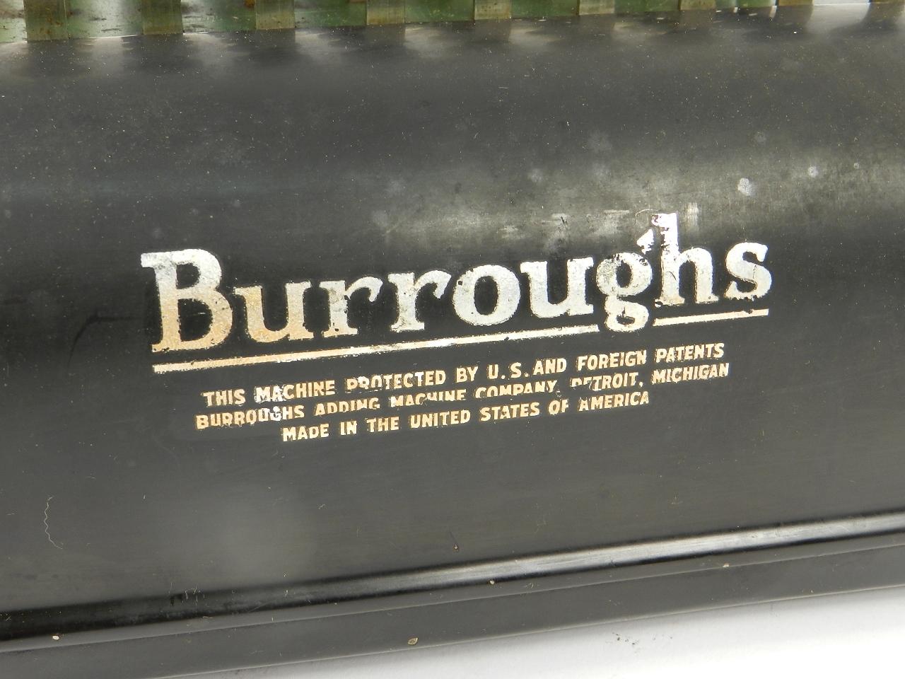 Imagen BURROUGHS  AÑO 1920 33641