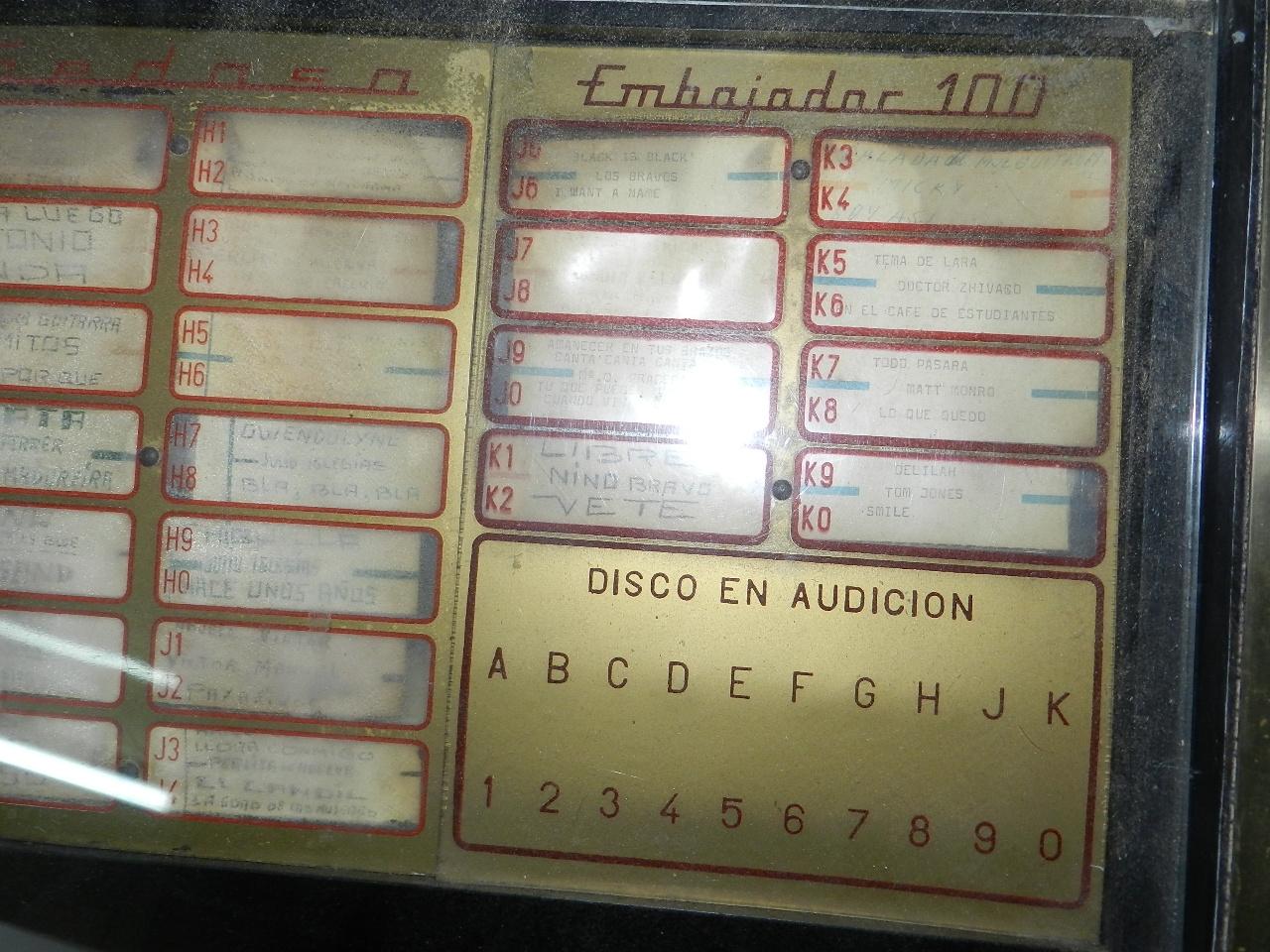 Imagen SINFONOLA GEDASA EMBAJADOR 100 AÑO 1959 34444