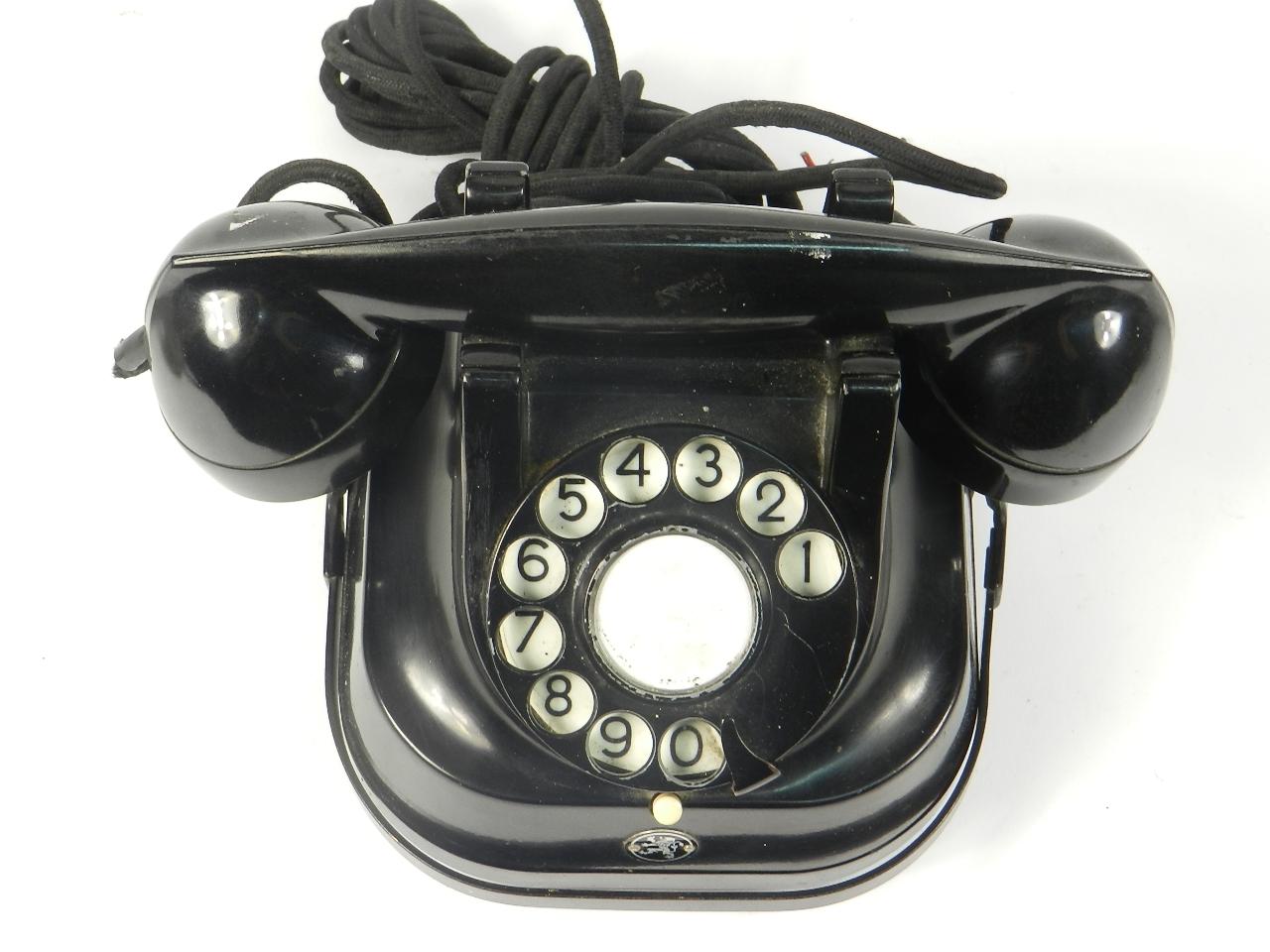 Imagen TELEFONO SOBREMESA NEGRO AÑO 1940 35344