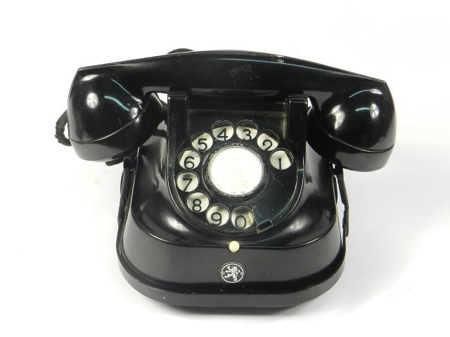 TELEFONO SOBREMESA NEGRO AÑO 1940