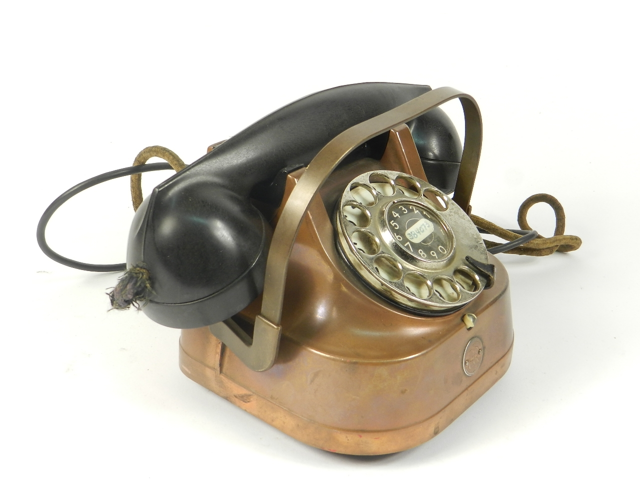 Imagen TELEFONO SOBREMESA COBRE AÑO 1940 35352
