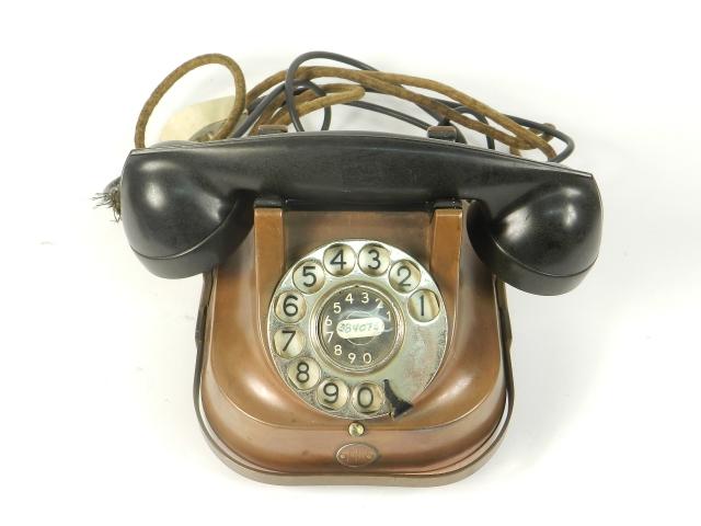 TELEFONO SOBREMESA COBRE AÑO 1940
