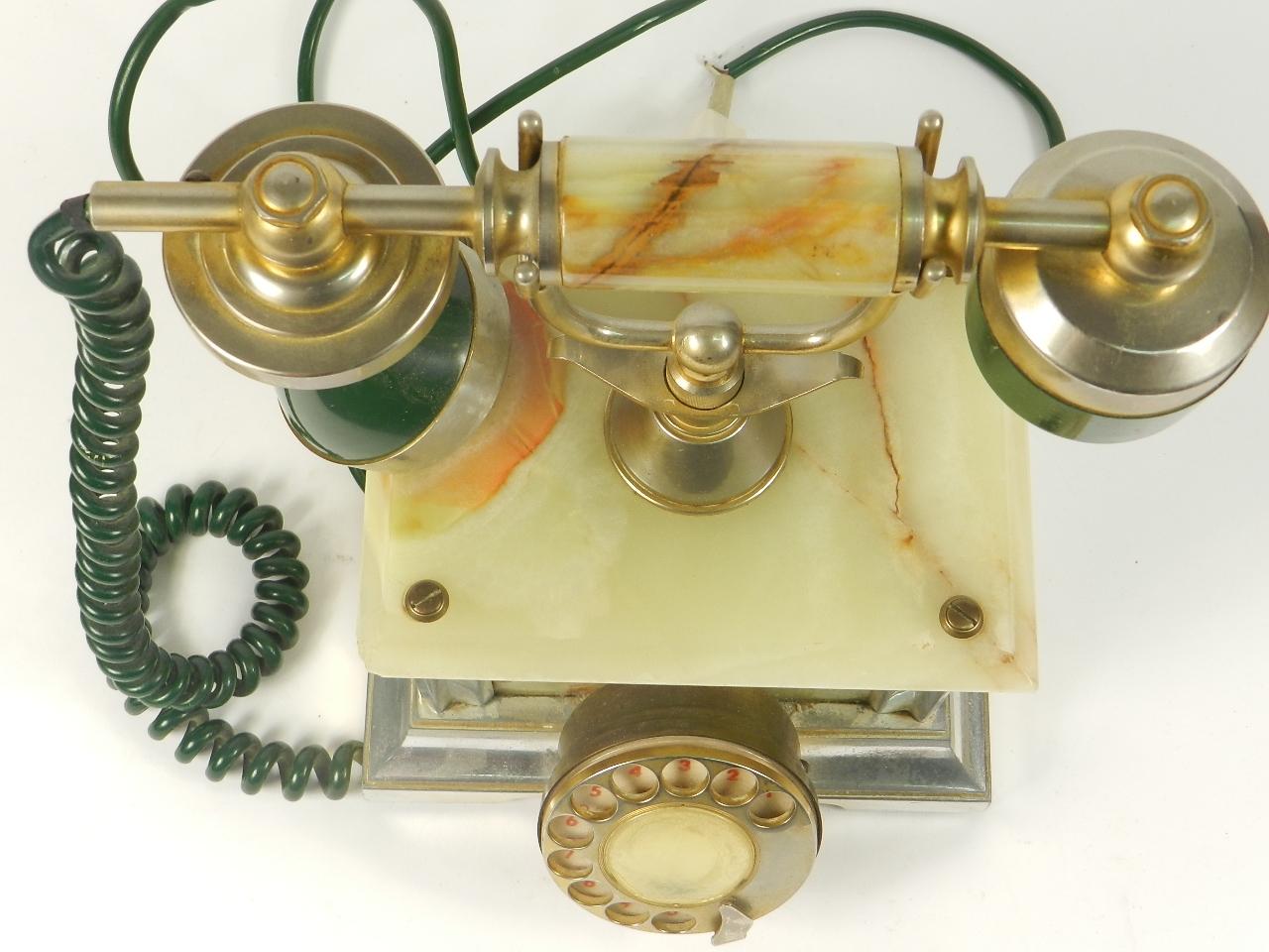 Imagen TELEFONO SOBREMESA ONIX VERDE AÑO 1960 35365