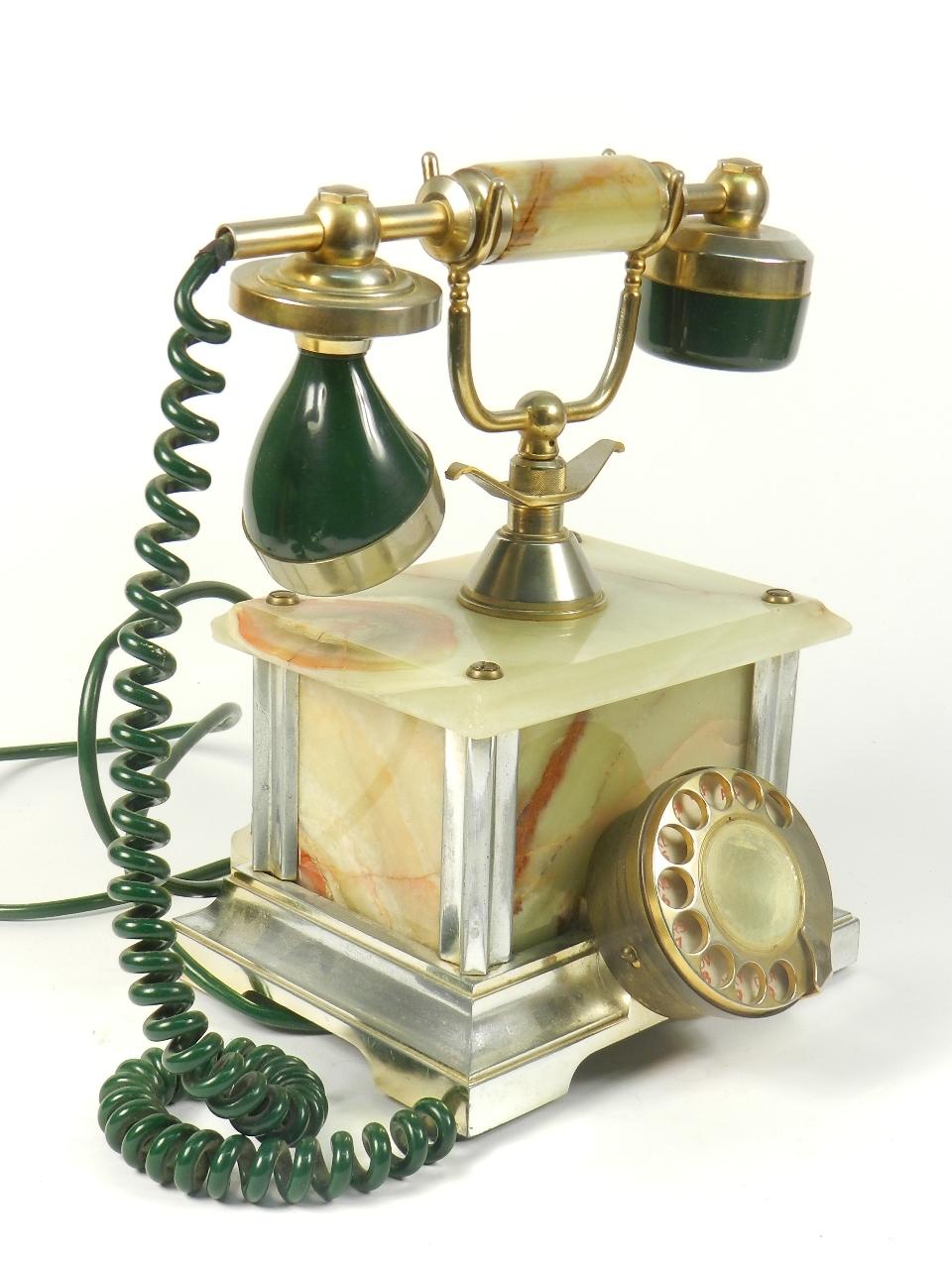 Imagen TELEFONO SOBREMESA ONIX VERDE AÑO 1960 35366