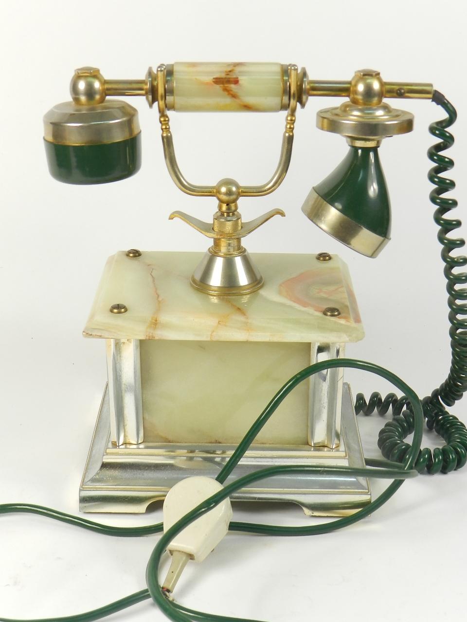 Imagen TELEFONO SOBREMESA ONIX VERDE AÑO 1960 35367